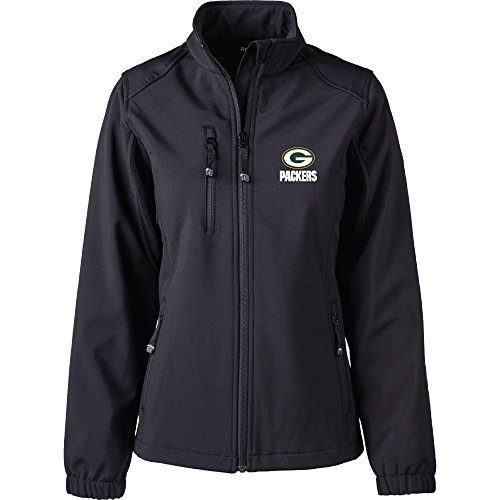 Dunbrooke Apparel NFL Green Bay Packers Women's Softshell Jacket, Small, Black