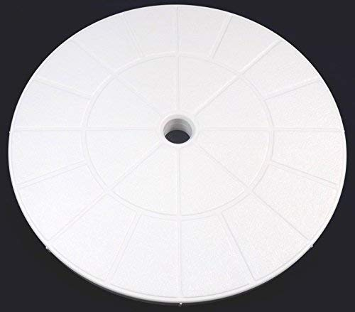 Val-Pak V50-115W White Skimmer Lid - 9 1/8 compatible with Pentair, American Products Admiral Skimmers