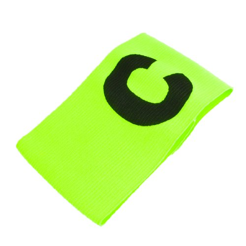 uxcell Yellowgreen Elastic Tension Fitness Football Soccer Captain Armband