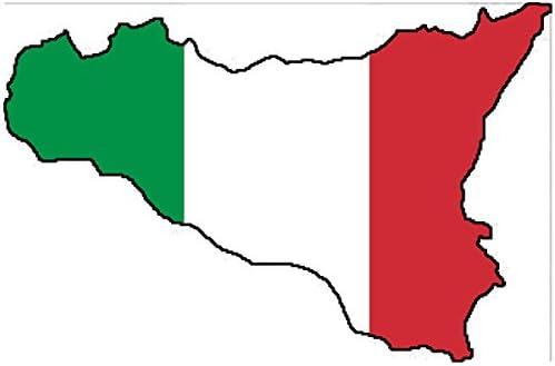 Auto Aufkleber Sizilien Italien Insel Sticker Konturgeschnitten Ca 11x7 Cm Auto