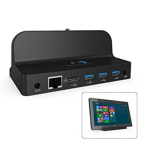 Microsoft Surface Dock, Fitian Docking Station Charging Stand for Microsoft Surface Pro3/Pro4(Black)