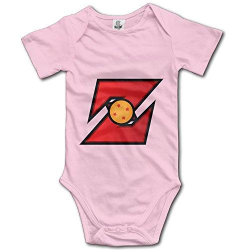 Zhanzy Dragon Ball Z Majin Vegeta Logo Baby's Boys Girls Kids Creeper Romper Bodysuits Jumpsuits Size 6 M US (Kids Minion Suit)