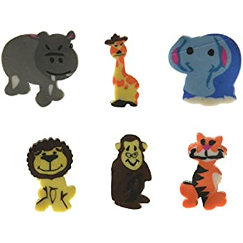 144 pcs Mini Zoo Animal Erasers Assortment (Safari Jungle)
