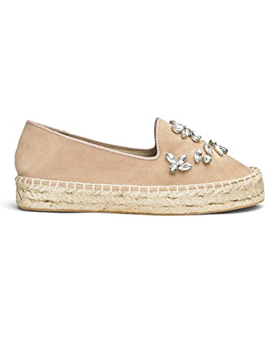 Simply Be Womens Sole Diva Jewelled Espadrille Nude 4mgPZ1b