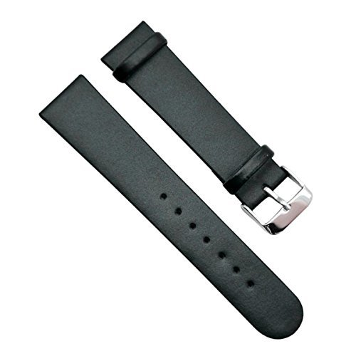 22mm-vintage-regular-replacement-genuine-leather-silver-buckle-watch-strap-watch-band-paint-edge-bla