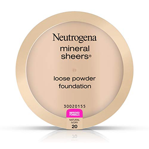 Neutrogena Mineral Sheers Loose Powder Foundation 20, Natural Ivory 20, .19 Oz. (Best Natural Foundation For Sensitive Skin)