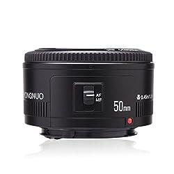 Yongnuo Ef Yn 50mm F1.8 1:1.8 Standard Prime Lens For Canon Ef Eos Dslr Cameras