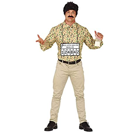 Magic Box Disfraz de contrabandista Estilo Pablo Escobar para Hombre Large (42-44