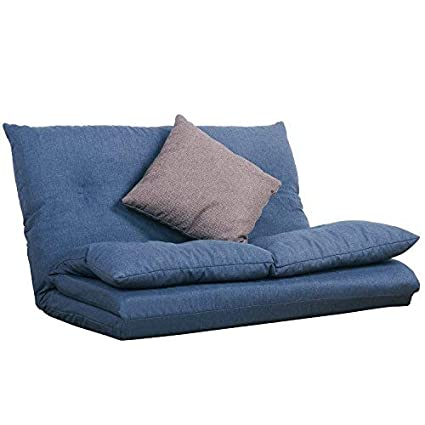 c4d42af48247 Amazon.com: Merax Fabric Folding Chaise Lounge Floor Gaming Sofa Chair  (Navy Blue): Home & Kitchen