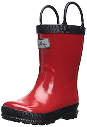 Amazon Com Hatley Little Boys Navy And Red Rain Boot