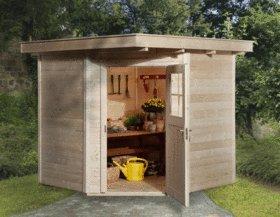 Weka - Abri de jardin QUINTA 5 angles, madriers de 21mm- 207x211cm ...
