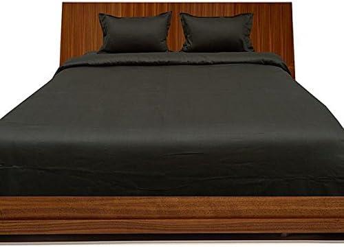 Scala Juego de sábanas de algodón Egipcio de 600 Hilos, Juego de sábanas Euro, Doble IKEA, Color Negro y sólido, 100% algodón: Amazon.es: Hogar