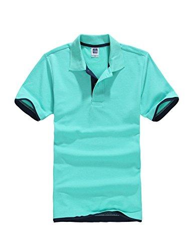 Letuwj(レツダブリュジェ) メンズ 半袖 折り襟 ゴルフウェア ポロシャツ