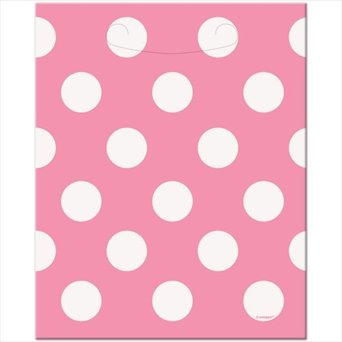 Hot Pink Polka Dot Favor Bags, 8ct -