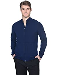 Men's Cashmere Wool Full-Zip Mock Neck Sweater Premium Quality