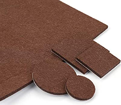 Lawei 260 Piece Furniture Pads - Self Adhesive Floor Protector Felt Pads Variety Size for Hardwood & Laminate Flooring