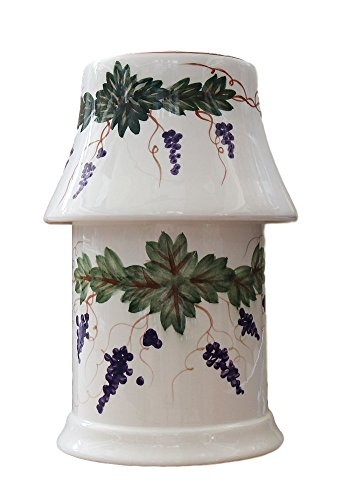 Sorano Grape Vine White Collection Electrical Jar Melter with Shade10.2