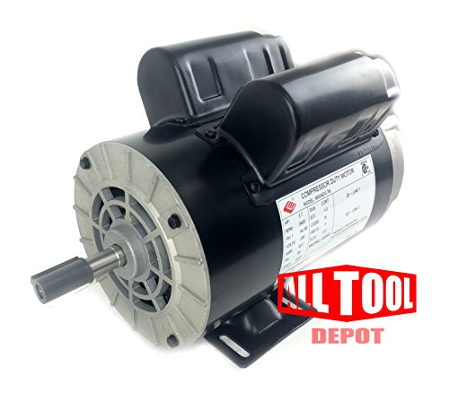 3.7 HP 3450 RPM, 56 Frame, 230V, 17.2Amp, 5/8'' Shaft, Single Phase NEMA Air Compressor Motor - EM-04 by EMZ