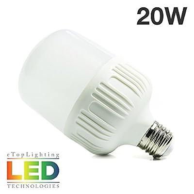 eTopLighting Ultra-Bright 20W LED Light Bulb 6500K with Edison E26/E27 Base Utility Garage Shops, Outdoor Security Lights, Outside Events, APL1459, Daylight White