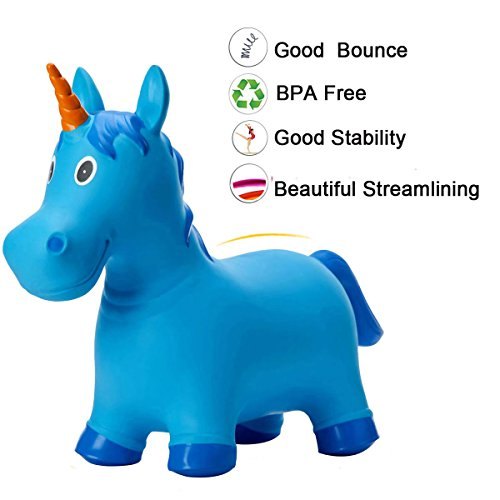 c6d0707423d Babe Fairy Jumping Animals Bouncer-Blue Deer Ride-On Horse with Pump-Bouncy  Horse Sport Toys For Toddlers-Bouncing Horses for Toddlers-Jumping Horse ...