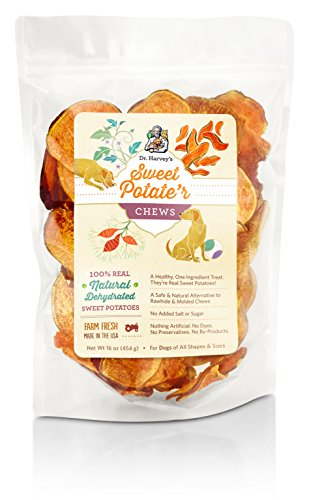 Sweet Potate'r Chews Sweet Potato Treat for Dogs, 16-Ounce