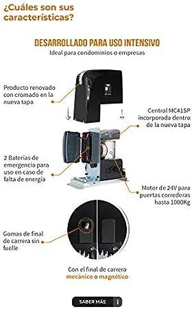 KIT Motor corredera 24V - Motorline Slide 1024 - Uso Intensivo, para automatizar puertas y cancelas correderas de uso residencial, parking, garaje, cochera, alta calidad con 2 mandos alta seguridad: Amazon.es: Bricolaje y herramientas