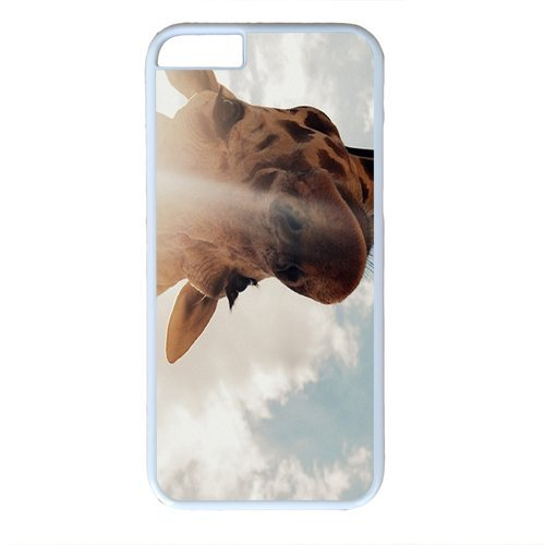 wskshop Couple iPhone 6 Case, Customized Beautiful Giraffe Sunshine Plastic Cover Case for iPhone 6(White) (Samsung S4 Mini Case Spigen)