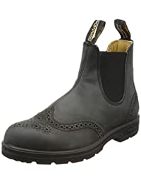Blundstone 1472 Leather Lined Brogue in Rustic Black