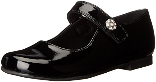 Rachel Shoes Girls' Jackie Mary Jane, Black Patent, 2 M US Little Kid