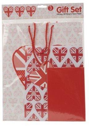 Pack Verpackung Geschenk Rot Rosa Union Jack Tasche Und