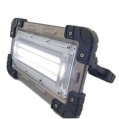 30 Watt Portable 2000 Lumen LED Work Light,Outdoor Waterproof Flood Light, for Workshop,Construction Site, Building, Camping,Hiking,Car Repair, Rechargeable Battery Power Bank and SOS Emergency Mode