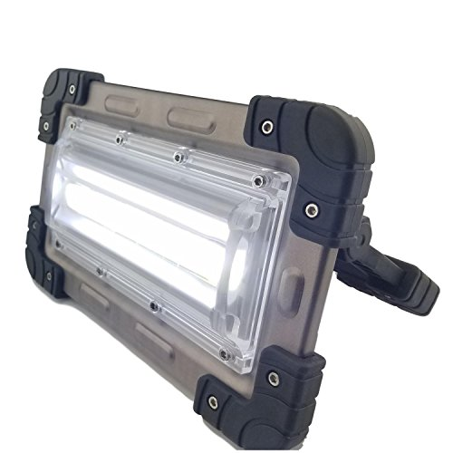 30 Watt Portable 2000 Lumen LED Work Light,Outdoor Flood Light, for Workshop,Construction Site, Building, Camping,Hiking,Car Repair, Rechargeable Battery Power Bank