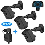 Blink XT2 Wall Mount Bracket, [3 Pack] Full Weather Proof Housing/ [1 Pack] Mount with Blink Sync Module Outlet Mount for Blink XT/ XT2 Indoor Outdoor Home Security Camera System (Black)