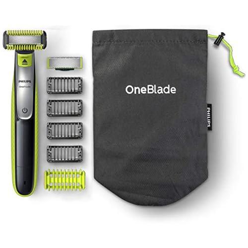 chollos oferta descuentos barato Philips QP2630 30 OneBlade Cara Cuerpo Recortador de Barba Recargable con Peine guía para el Cuerpo 4 Peines guía para Barba de 1 2 3 y 5 mm Uso en Seco y Húmedo