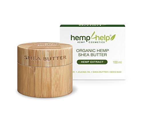 Luxury Organic Hemp Shea Butter Cream with Hemp Extract  Face Cream Moisturizer & Hydration n Enhanced with Propolis, Beeswax, Argan Oil, Jojoba Oil - Use on Stretch Marks, Scars, Wrinkles, Psoriasis