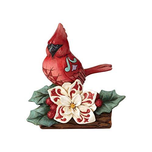 (Enesco Jim Shore Heartwood Creek Winter Wonderland Cardinal Figurine, 5.51