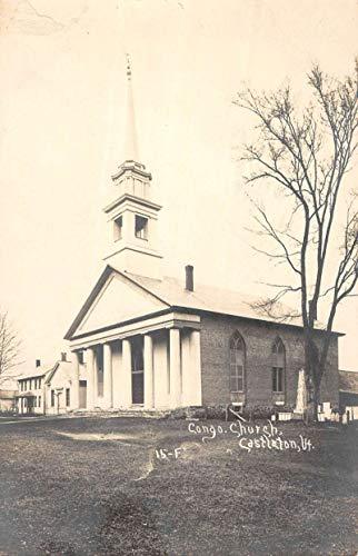 Castleton Vermont Congregational Church Real Photo Antique Postcard K99295