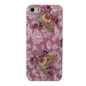 WEV Peony Flower Design Pattern Hard Case for iPhone 5/5S