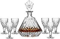 ZzheHou Set Decantador De Whisky Decantador de Whisky y Gafas Set Crystal Decanter Set para el Regalo para los Hombres (Color : Clear