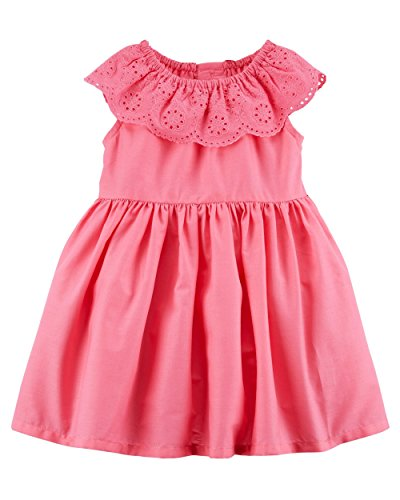 Carter's Girls' Dress (6 Months, Pink/Lace -
