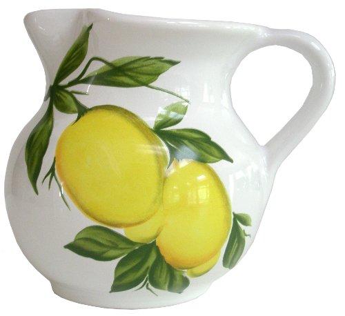 Pitcher Earthenware (Abbiamo Tutto Lemon Pitcher, 1-Liter, 32-Ounce, 6-Inch)