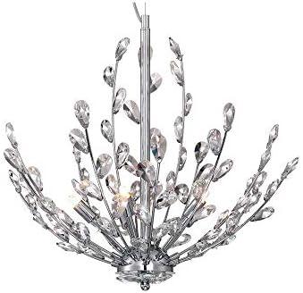 Home Decorators Collection Hetcherson 5-Light Chrome Pendant Hanging Chandelier Light