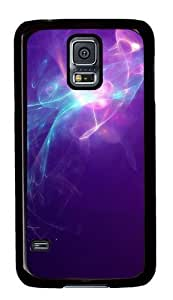 Rugged Samsung Galaxy S5 Case and Cover - Blue-violet Light Abstract Art Custom Design PC Case Cover for Samsung Galaxy S5 - Black