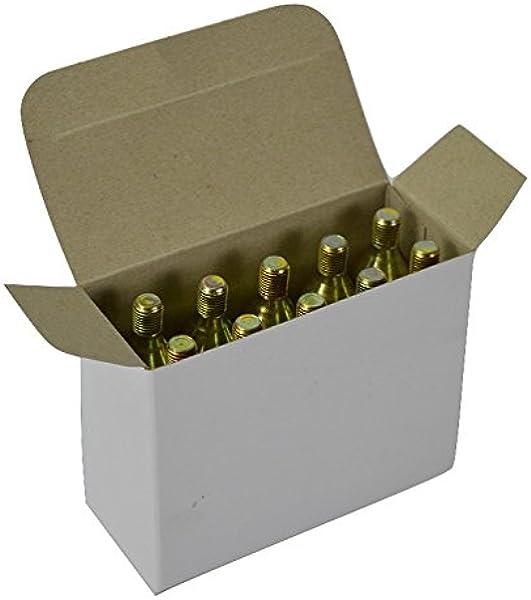 10 cartuchos de Co2 Mosa de 16 g con punta roscada para hinchar ...