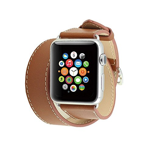 spritechtm-elegance-watchband-replacementleather-barcelet-double-straps-band-wristband-with-adapter-