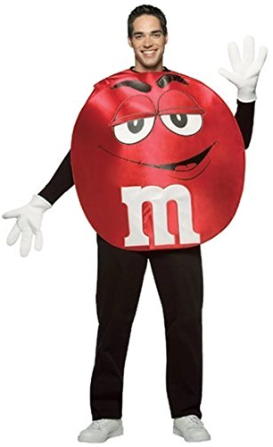 M & M Halloween Costumes (M & M Adult Costume (Red))