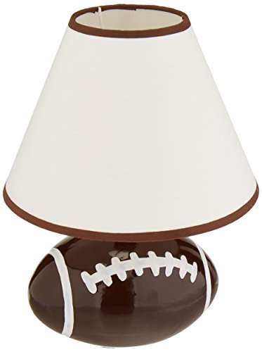 """Lite Source IK-6100 Table Lamp with White Fabric Shades, 9"""" x 9"""" x 11.5"""", Brown Finish"""