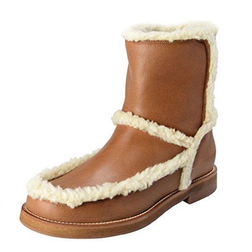 maison-margiela-mm6-womens-tan-leather-fur-trimmed-boots-shoes-us-8-it-38