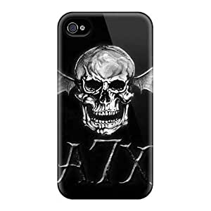 Shock Absorbent Hard Cell-phone Cases For Iphone 4/4s With Custom Trendy Avenged Sevenfold Band A7X Skin AaronBlanchette