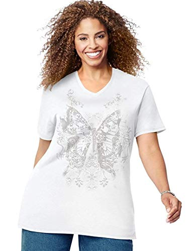 - JMS Women's Plus Size Fall Wings Graphic Tee_White_32